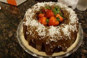 large chocolate bundt cake