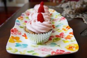 Raspberry Vanilla Cupcakes
